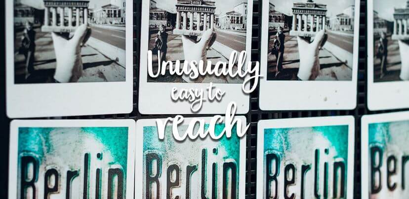 diverse polaroid pictures of Berlin