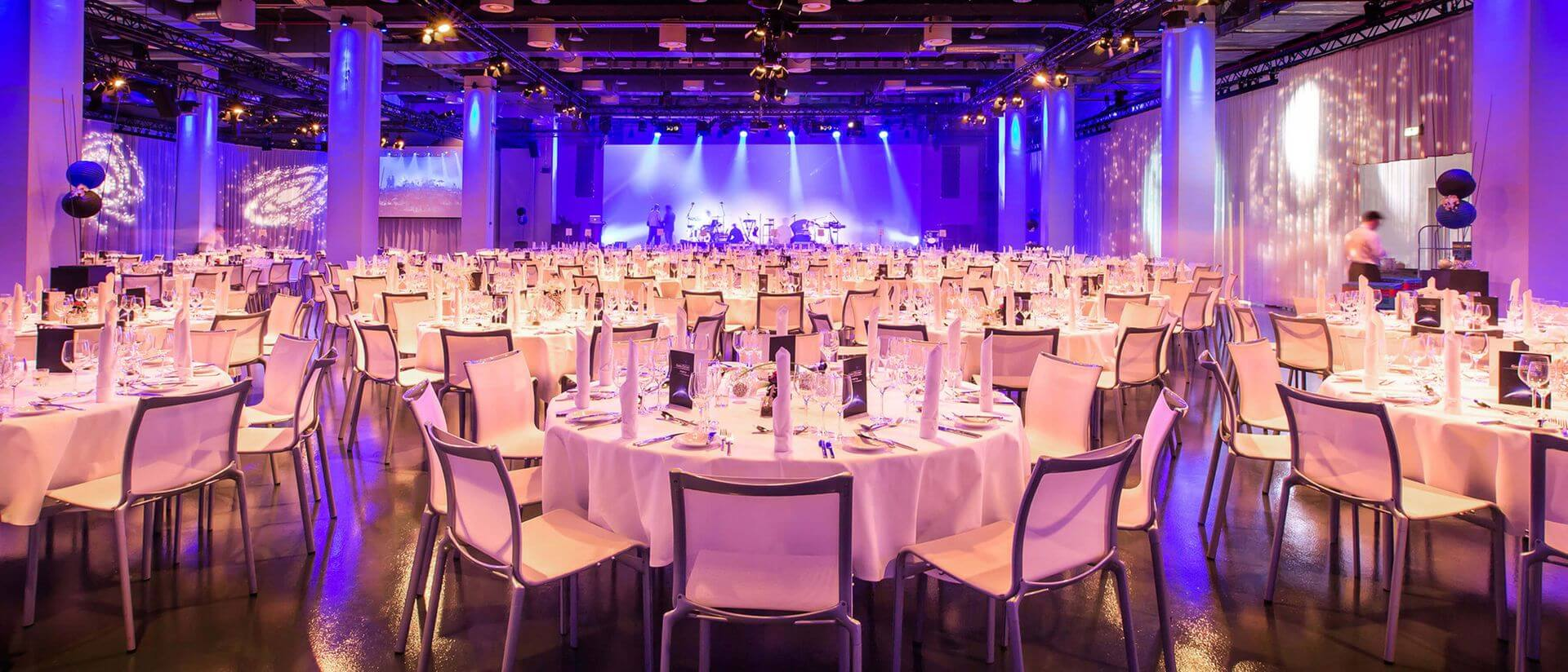 reef berlin gala dinner set event area